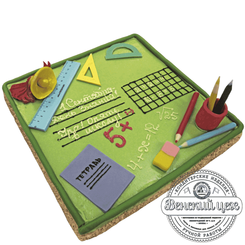 Праздничный торт «Школьная тетрадь» №258