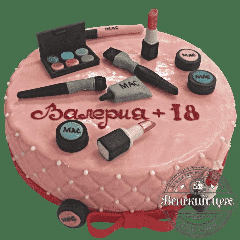 Торт на день рождения «Косметичка» №259
