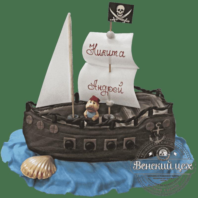 """Торт детский """"Пиратский корабль"""" №260"""