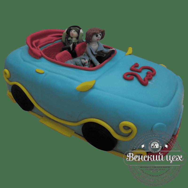 """Торт на день рождения """"Семейная поездка"""" №261"""