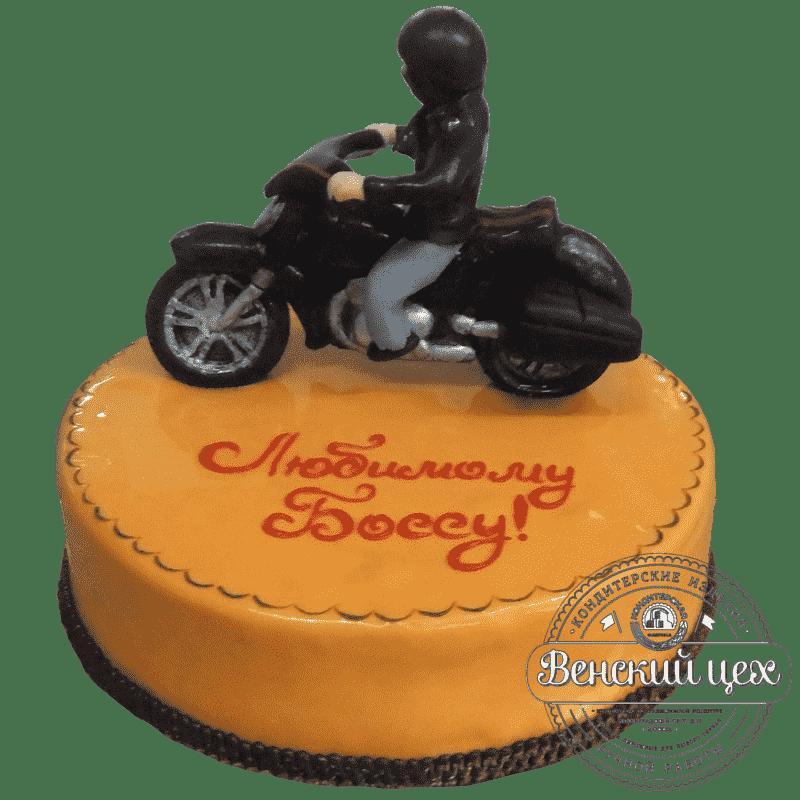 """Торт на праздник """"Мотоциклист"""" №268"""