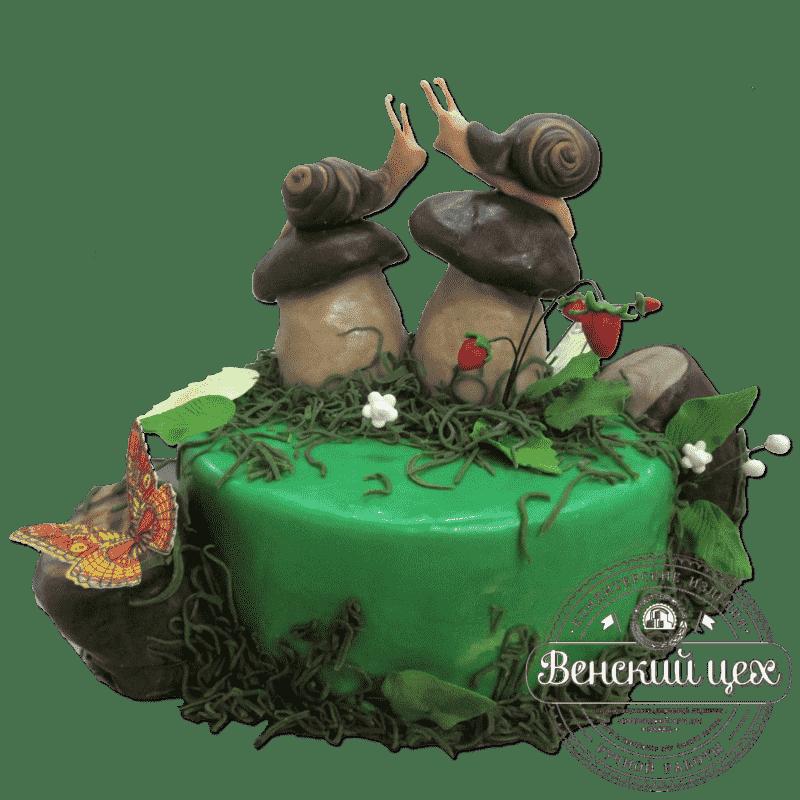 """Торт на годовщину """"Влюбленные улитки""""  №276"""