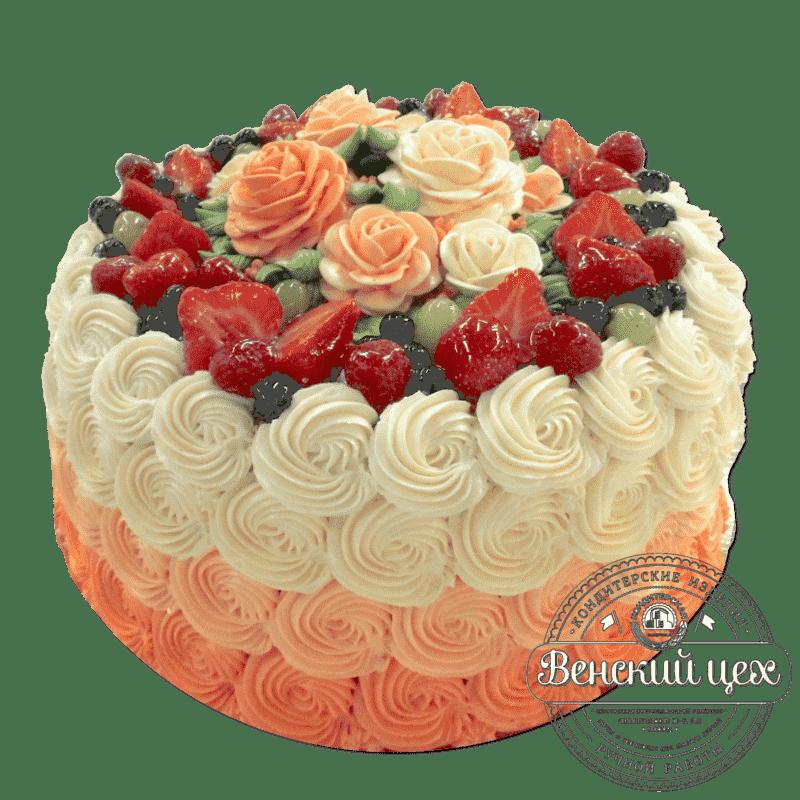 """Торт на юбилей """"Оранжевое настроение"""" №278"""