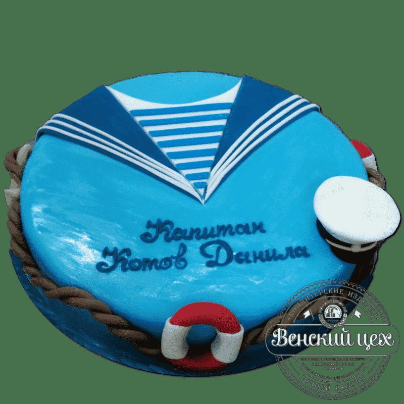 """Детский торт на день рождения """"Мой капитан"""" №279"""
