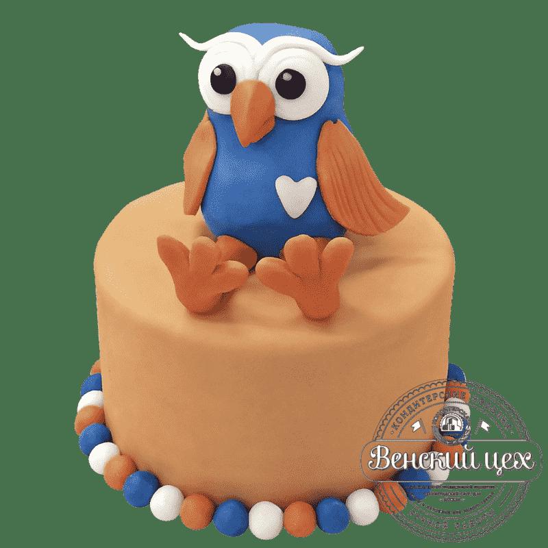 """Торт детский на день рождения """"Совушка"""" №288"""