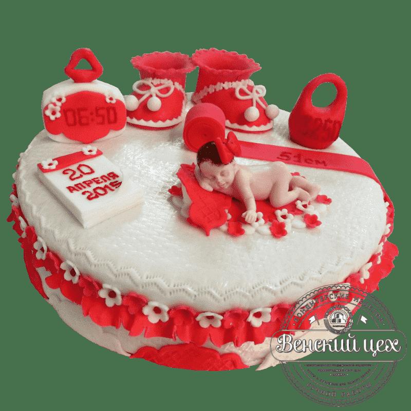 """Торт детский  """"Встреча из родильного дома"""" №29"""