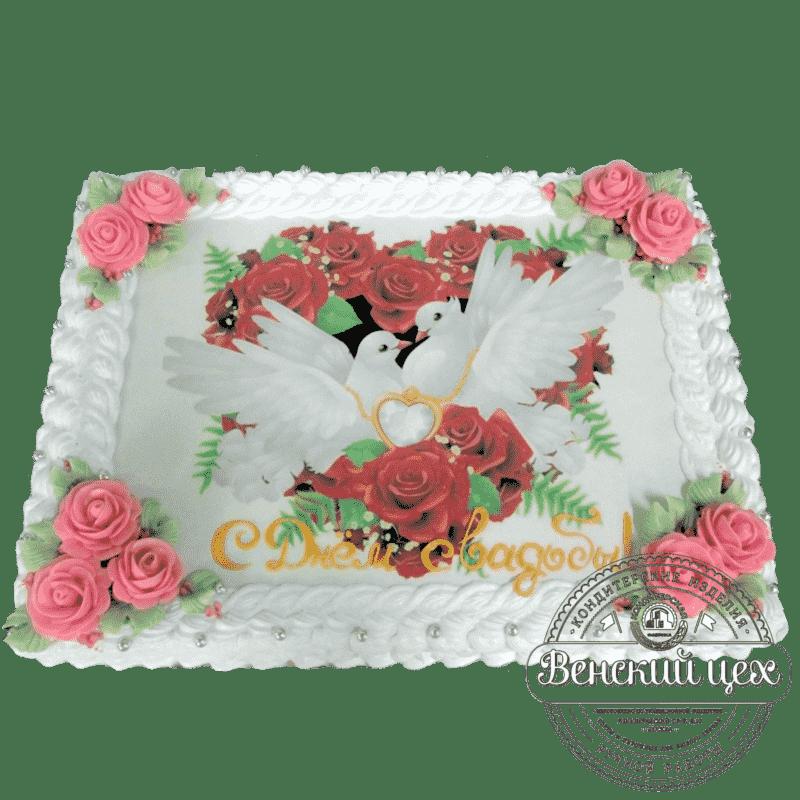 Торт на годовщину «Свадебные голуби» №293