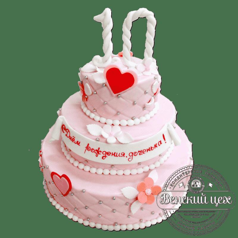 Торт на день рождения ребенку «Розовое счастье» №294