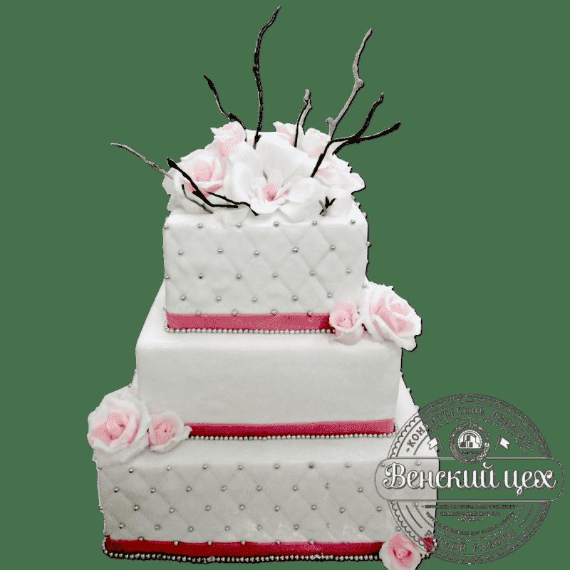 Торт свадебный «Свадебная шкатулка» №306