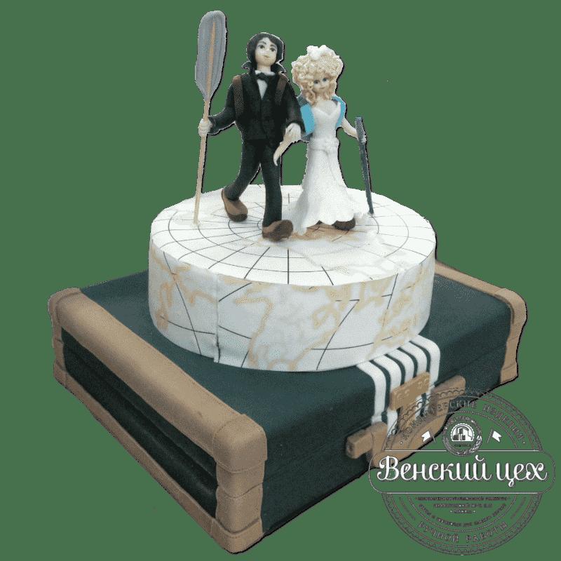 Торт на свадьбу «Свадебное путешествие» №307