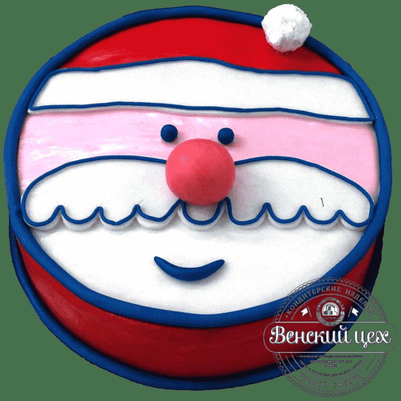 Праздничный торт «Дед Мороз» №309