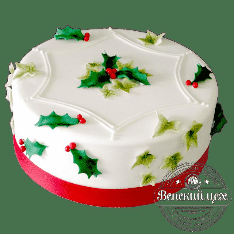 Праздничный торт «Новогодний венок» №311