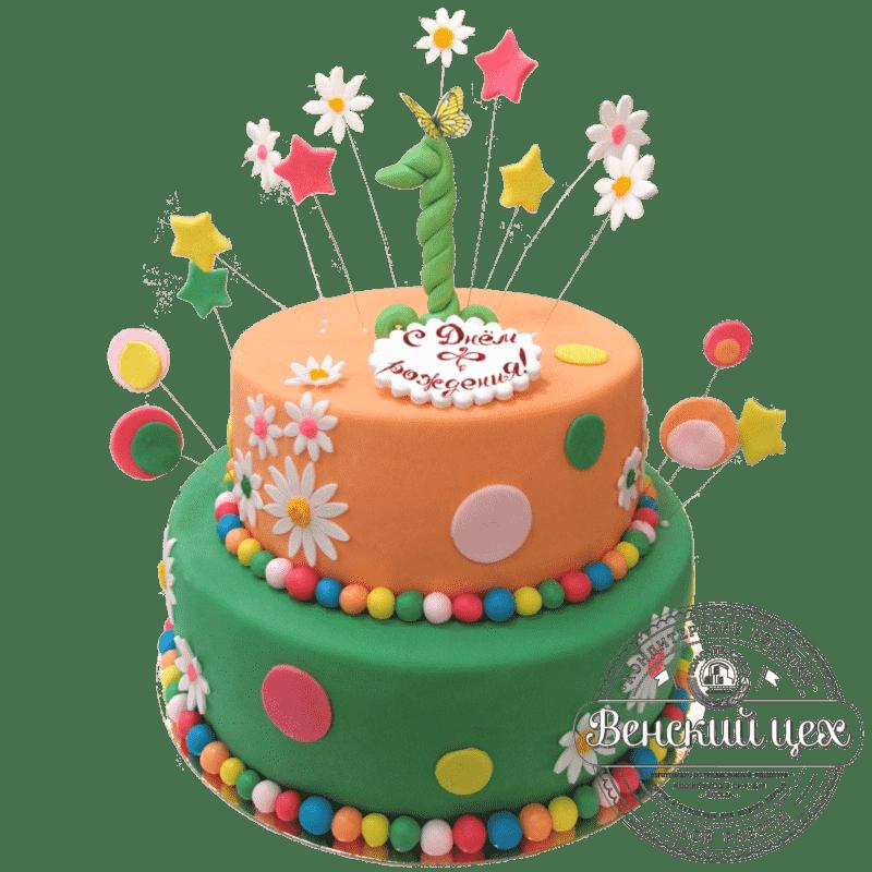 Торт на день рождения ребенку «Мой первый день рождения» №315