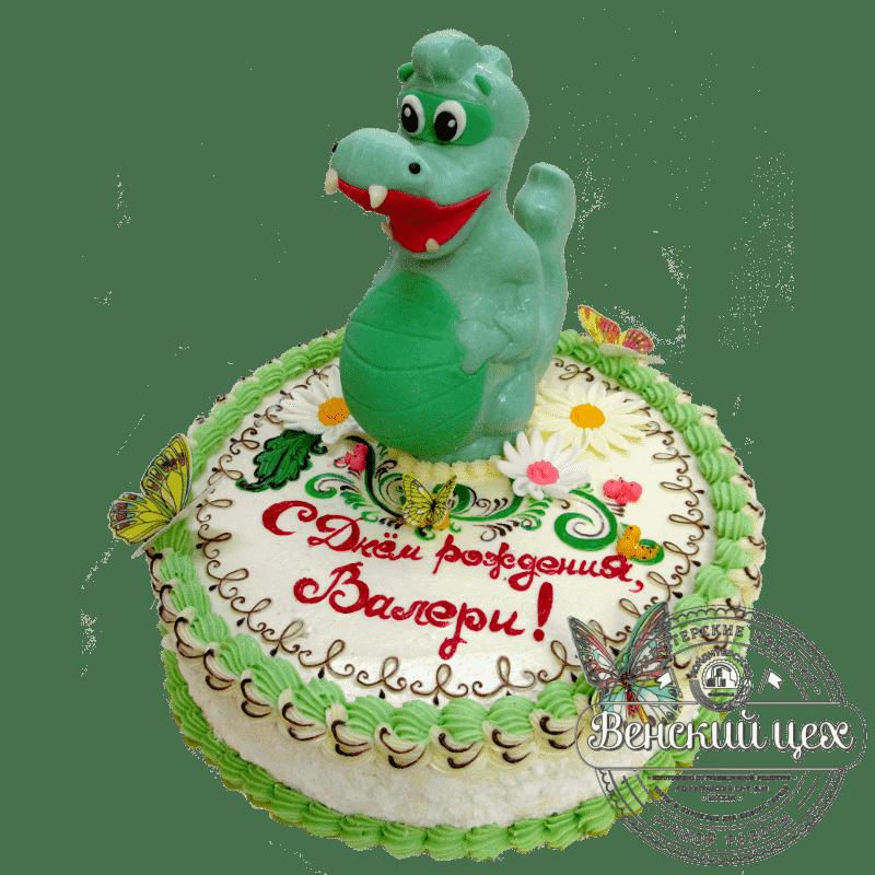 Торт на день рождения ребенку «Динозавр» №316