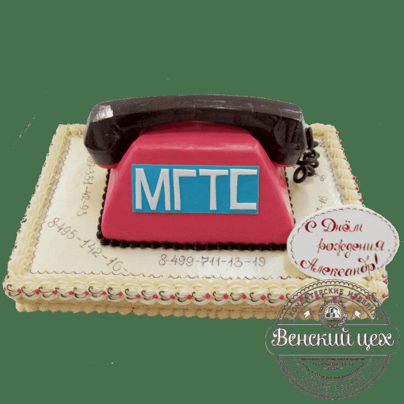 Торт на корпоратив «Позвони мне, позвони!» №317