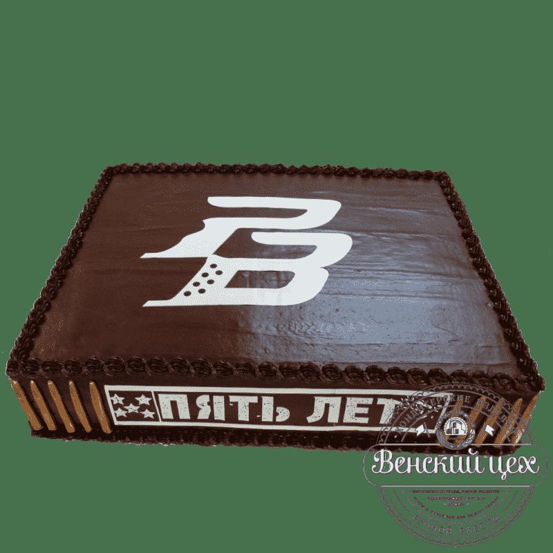 Торт на корпоратив «Черная точка» №327