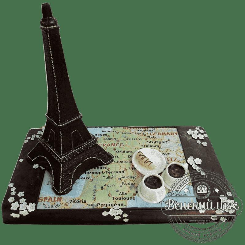 Торт на День Рождения  «Париж» №329