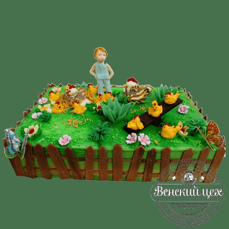 Детский торт на день рождения «Подворье» №330