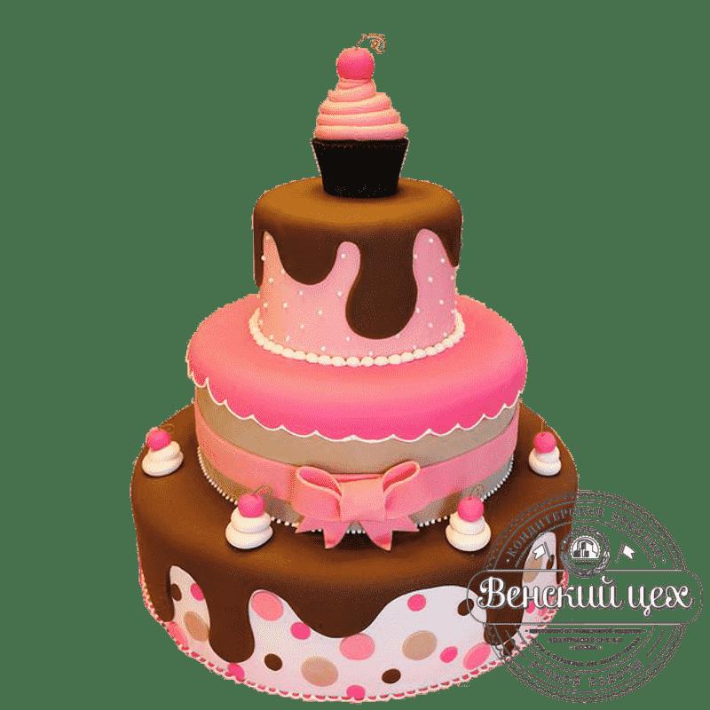 Торт на день рождения «Шоколадная симфония» №336