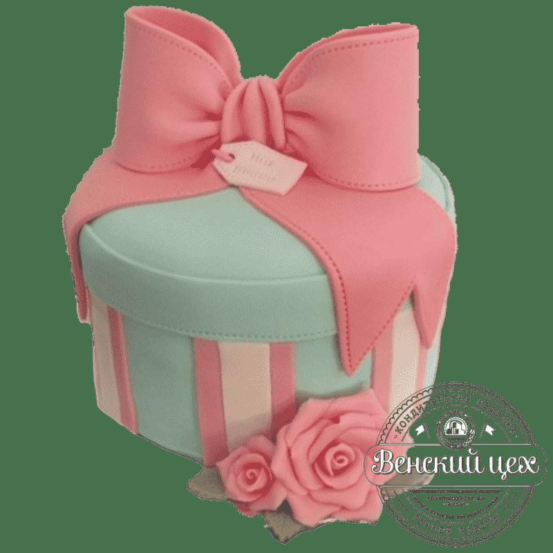 Праздничный торт «Подарок для любимой» №337