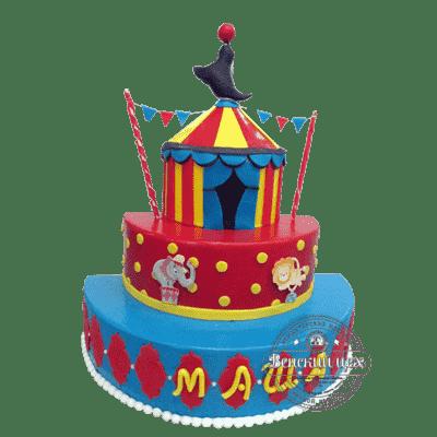 Торт на день рождения «Цирк» №338