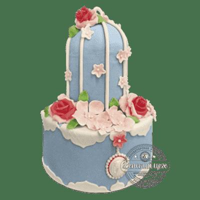 """Торт на свадьбу """"Античная камея"""" №341"""