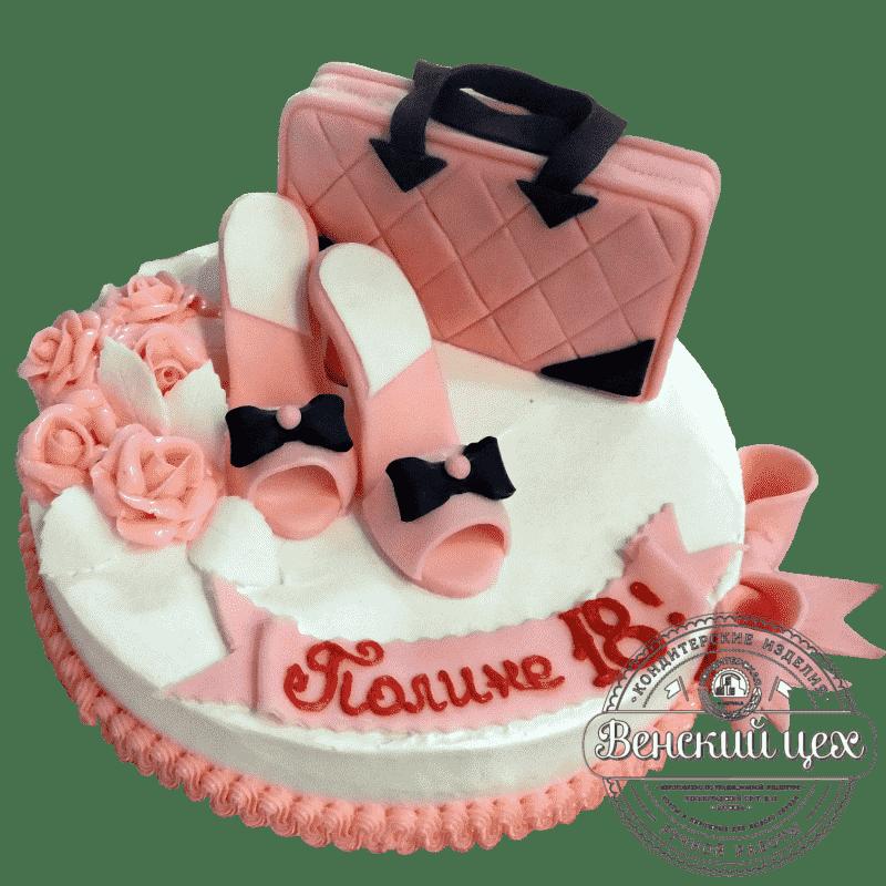 Торт на день рождения «Модница» №342