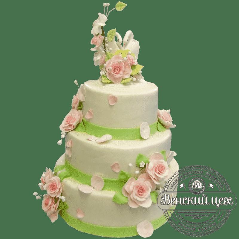 """Торт на свадьбу """"Воздушный поцелуй"""" №345"""