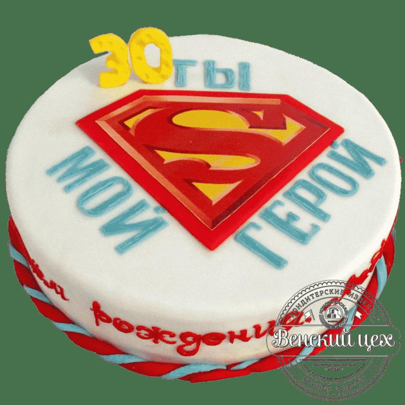 Торт на день рождения «Супермен» №352