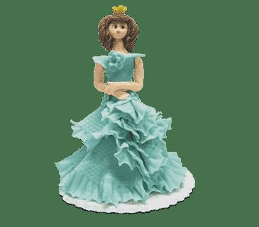 """Фигурка сахарная №16 """"Принцесса в голубом платье"""""""