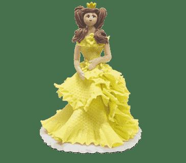 """Фигурка сахарная №17 """"Принцесса в желтом платье"""""""
