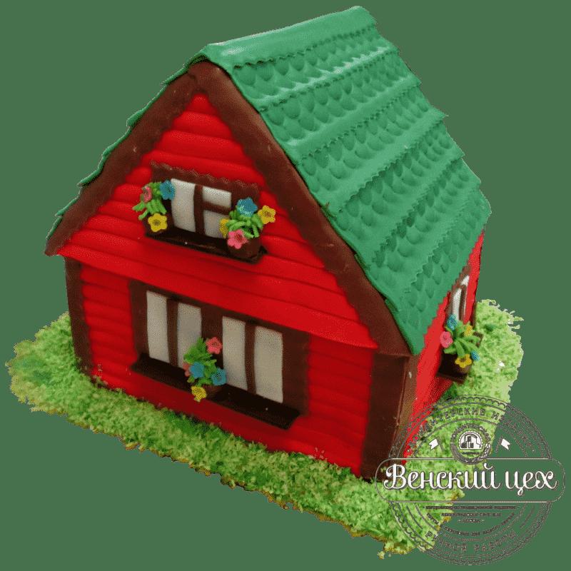 Торт на день рождения «Загородный дом» №356