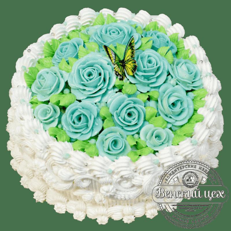 Торт на день рождения «Поляна из роз» №359