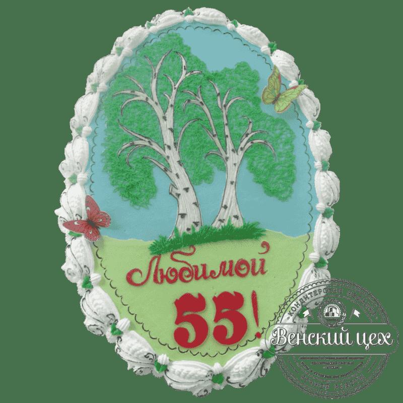 Торт на день рождения «Березовая роща» №361