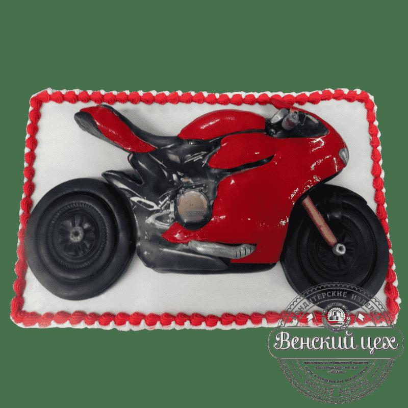 Торт на день рождения «Гоночный мотоцикл» №362