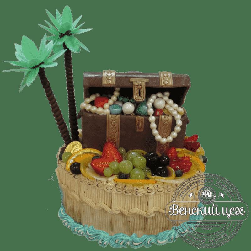 Торт на день рождения «Остров сокровищ» №365