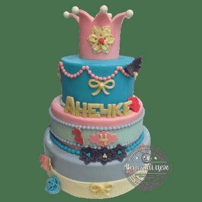"""Торт детский """"Принцесса на горошине"""" №371"""