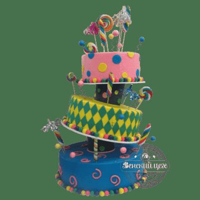 Торт на день рождения «Страна чудес» №372