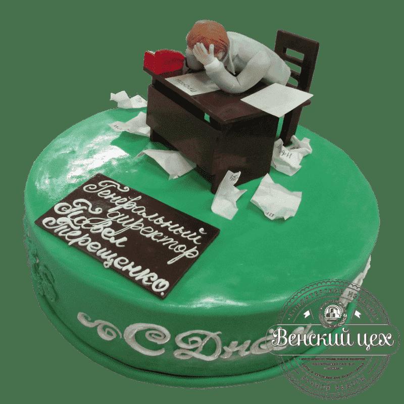 Торт на день рождения «Для генерального директора» №374