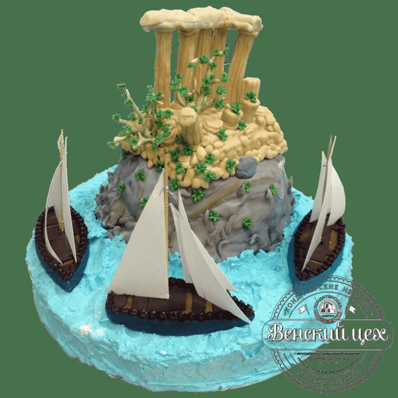 Торт на корпоратив «Античные руины» №377