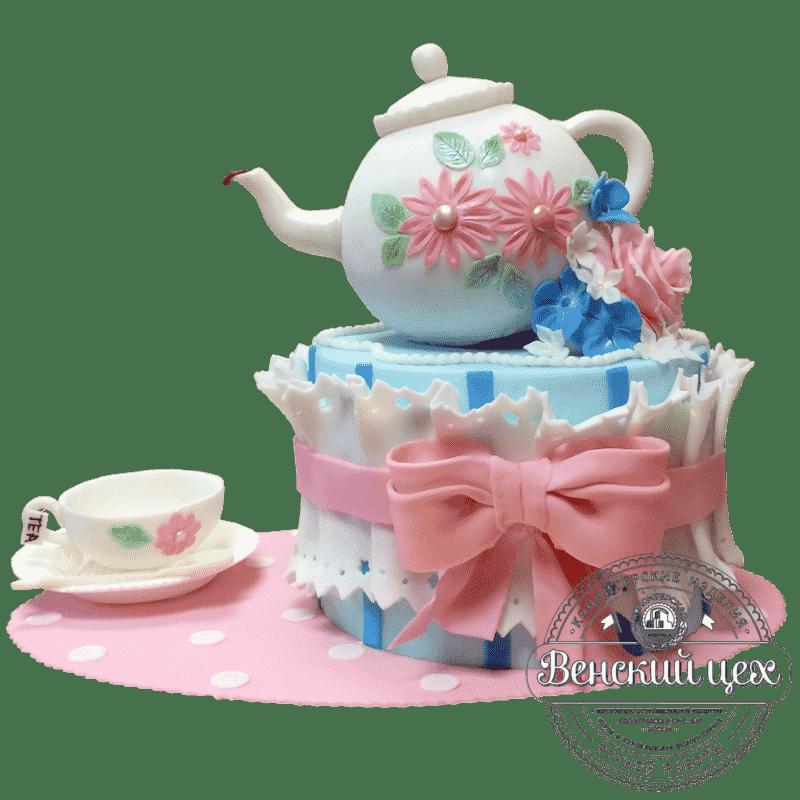 Торт на день рождения «Чаепитие» №385