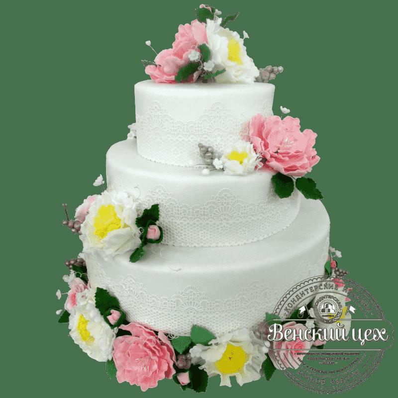 Торт на свадьбу «Ретро» №388