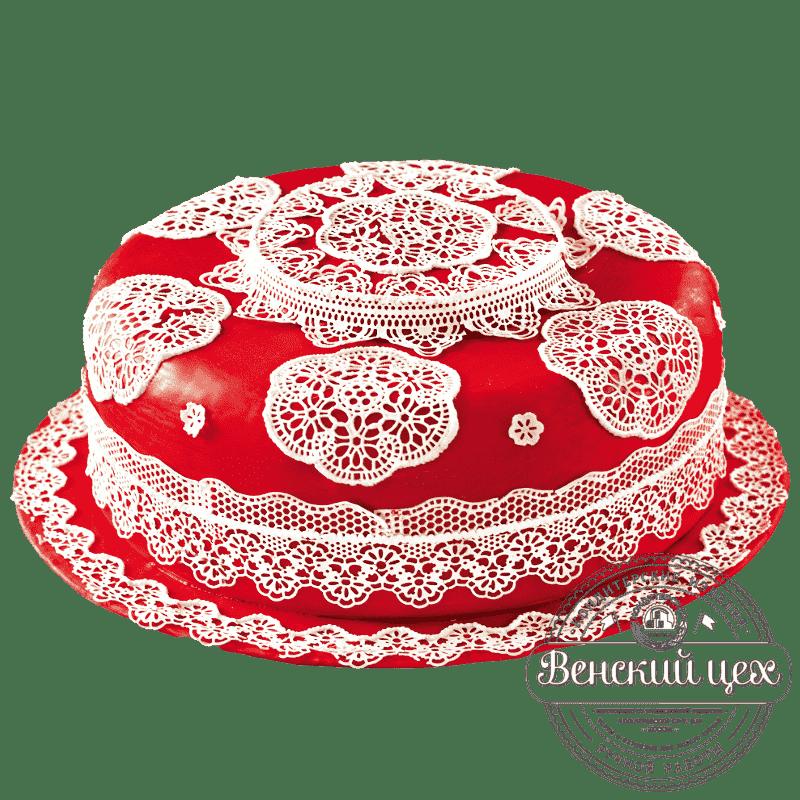 Торт на день рождения «Бабушкина скатерть» №389