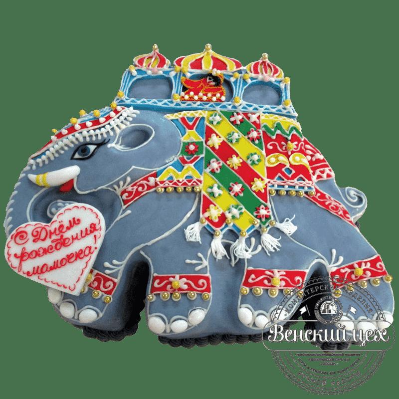 """Торт на день рождения """"Индийский слон"""" №390"""