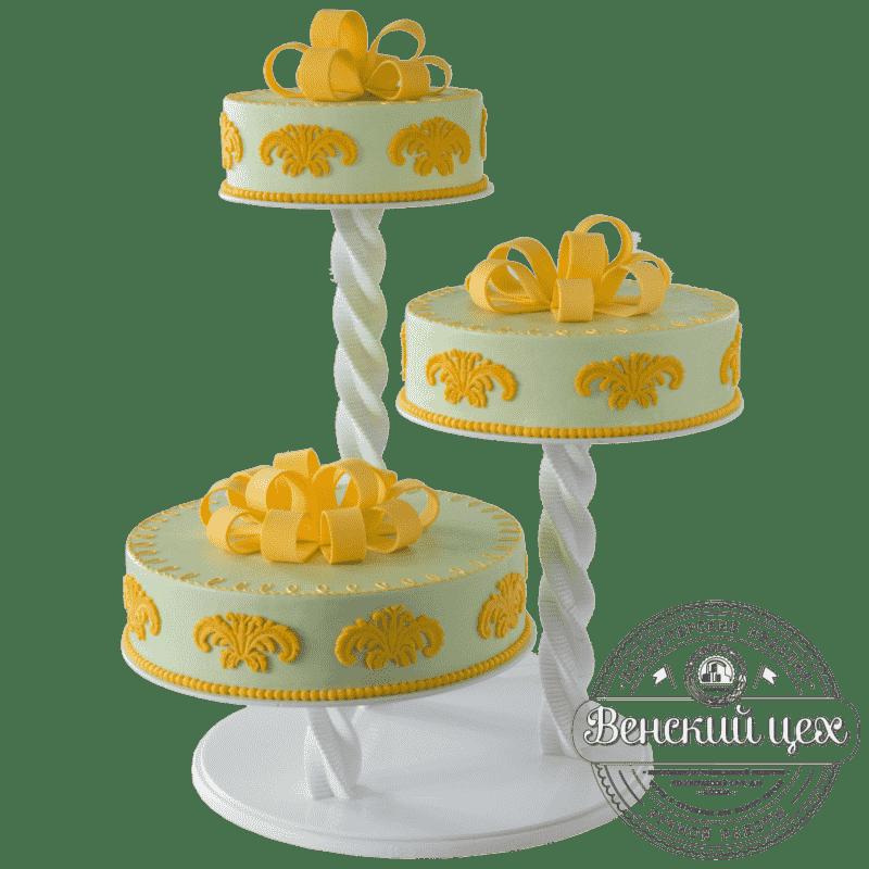 Торт свадебный «Ампир» №393
