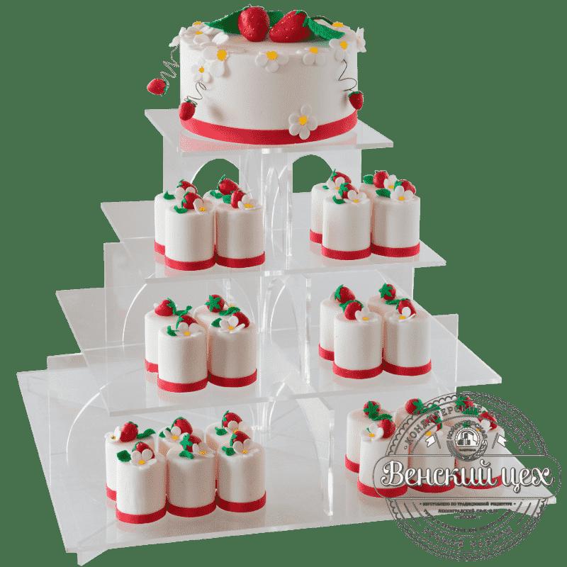 Торт свадебный «Клубничка» №395