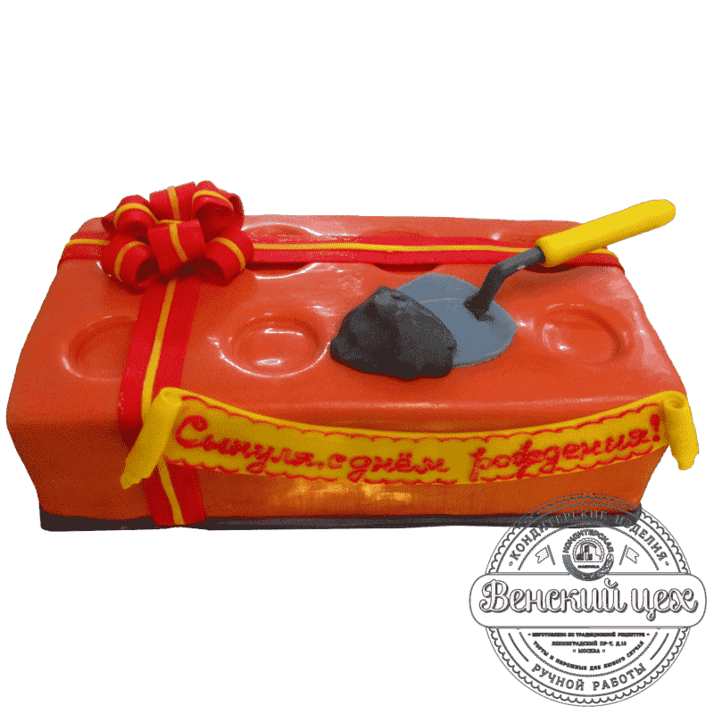 Торт на корпоратив «На день строителя» №404