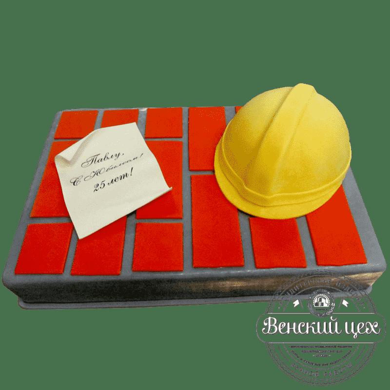 Торт на день рождения «Строитель» №406