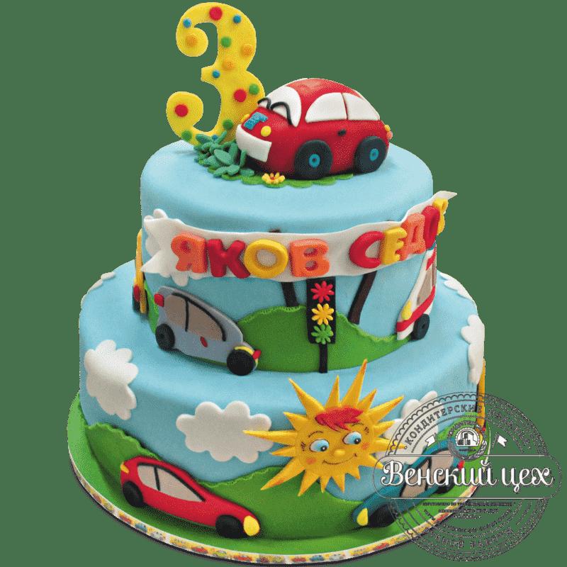 Детский торт «Автотрасса» №422