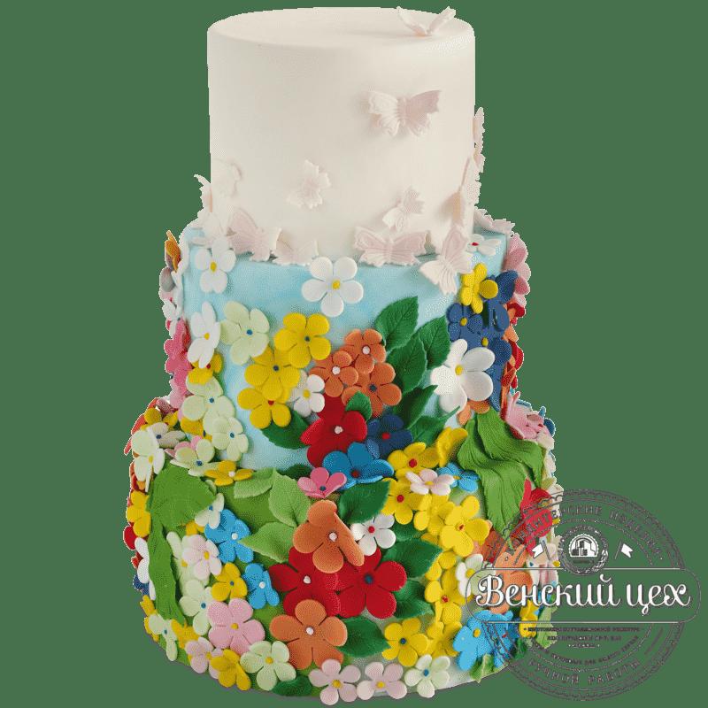 """Торт на свадьбу  """"Карнавал"""" №423"""